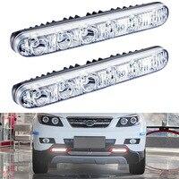 2 PCS High Quality Universal 12v LED Car Daytime Running Light Waterproof DRL Auto Day Light
