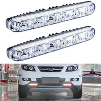 2 PCS High Quality Universal 12v LED Car Daytime Running Light Waterproof DRL Auto Day Light