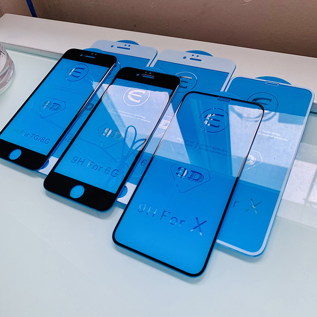 9D szkło ochronne dla iphone 6 6S 7 8 plus X szkło na iphone 7 6 8 X R XS MAX osłona ekranu iphone 7 6 ochrona ekranu XR 1