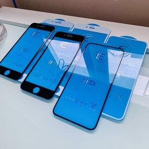 9D زجاج واقي ل iphone 6 6 S 7 8 زائد X الزجاج على iphone 7 6 8 X R XS ماكس واقي للشاشة iphone 7 6 شاشة حماية XR