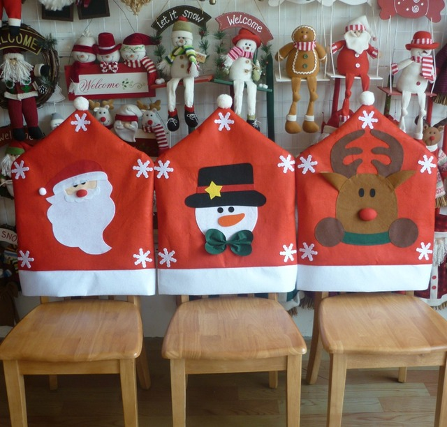 chair covers new year wedding cover hire oswestry diy christmas banquet hotel home decoration dining seat santa claus cap for party decor