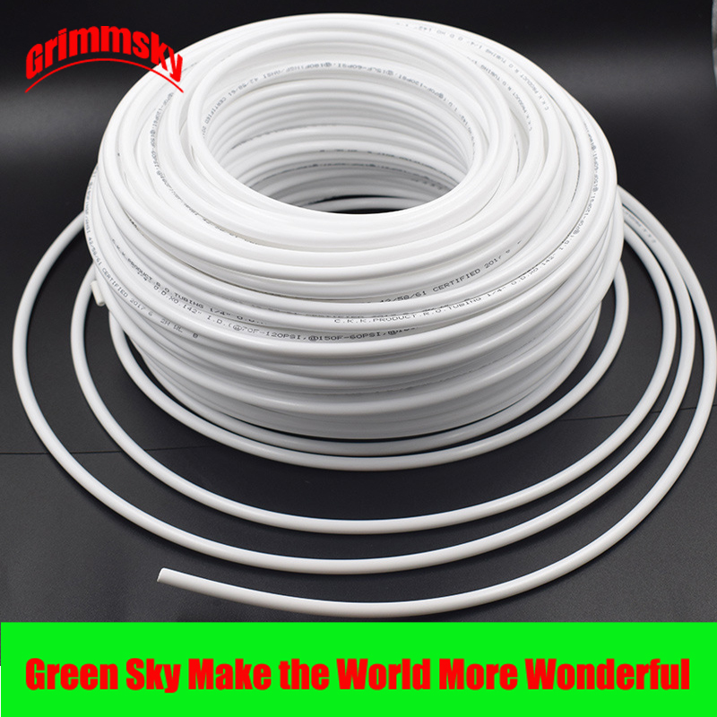 High Quality White Flexible Tube Hose Pipe For RO Water Filter System Aquarium PE Reverse Osmosis 1/4 Inch 3/8 Inch