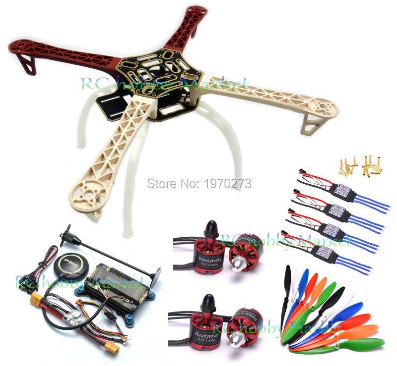 F450 450 Quadcopter MultiCopter Frame kit APM 2.8 w/ Shock Absorber NEO-7M 7M GPS Power Module 2212 Motor 30A Simonk ESC