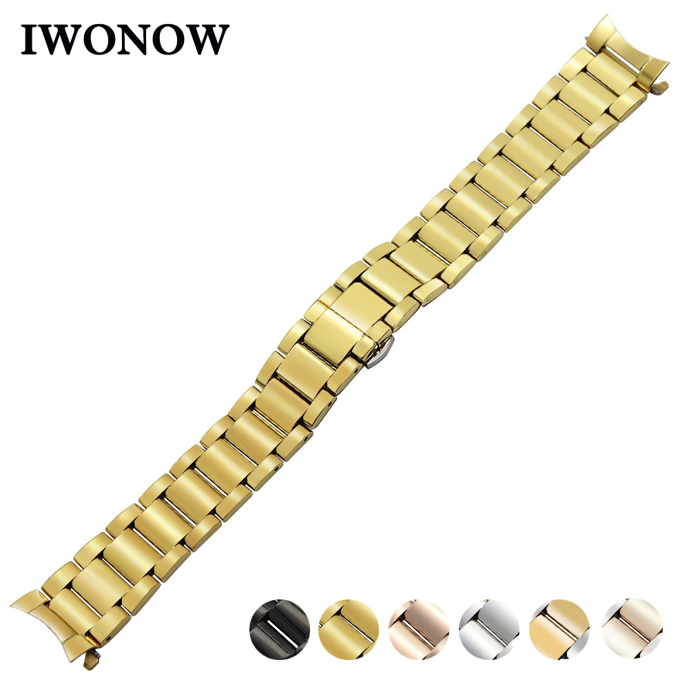 Stainless Steel Watch Band 18mm 20mm 22mm for Timex Weekende