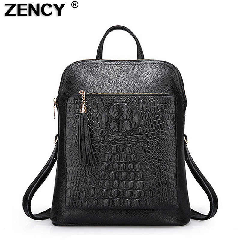6a6c3e0b8f0 Detail Feedback Questions about Zency 100% Genuine Leather Knapsack ...