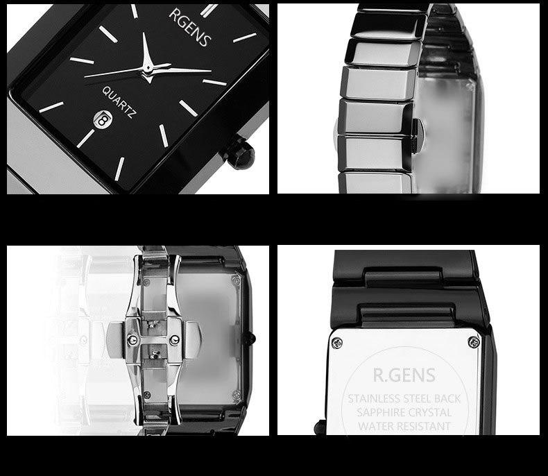 Tabela do presente do relógio de jóias de moda de alta qualidade 2016 novo 5 cor mulheres Relógios Jóia geometria gem cut superfície preta de pulso - 4