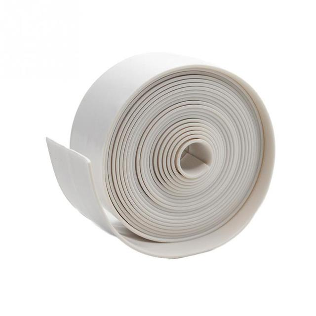 1 ROLL PVC Material  Kitchen Bathroom Wall Sealing Tape Waterproof Mold Proof Adhesive Tape 3.2mx3.8cm