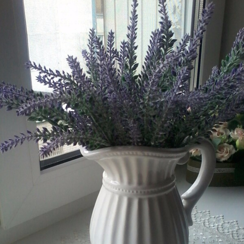 Provence Decoration Us 1 29 22 Off Fengrise Artificial Lavender Flower Romantic Provence Decoration Plastic Artificial Flower Bouquet Wedding Decoration Flower In