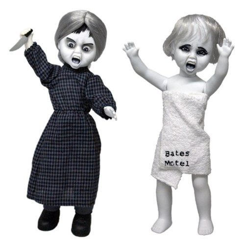 цена на Alfred Hitchcock Horror Film Psycho Marion Mezco Living Dead Dolls Presents 27cm Action Figure Toys Collectable
