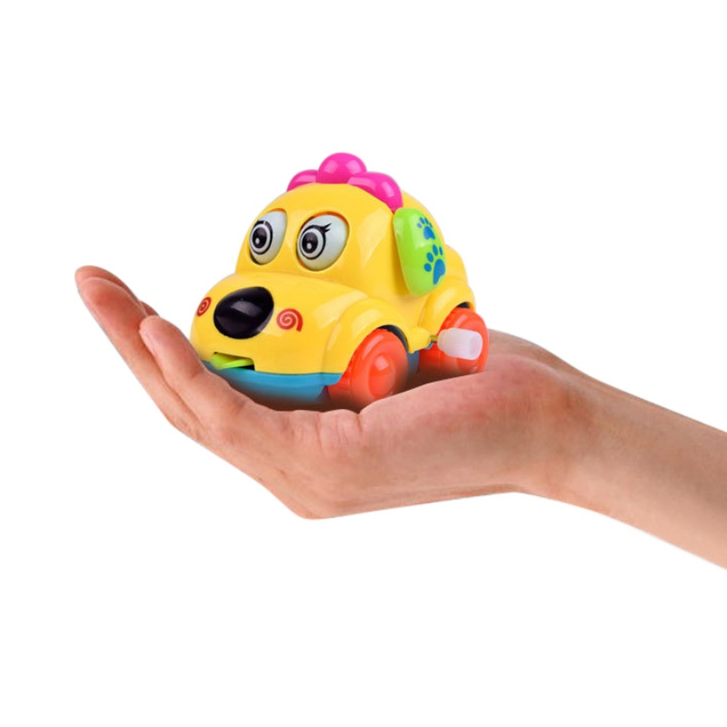 Baby Cartoon Animal Dog Wind Up Toys Running Car Clockwork Classic Toy Newborn Toy Random Color