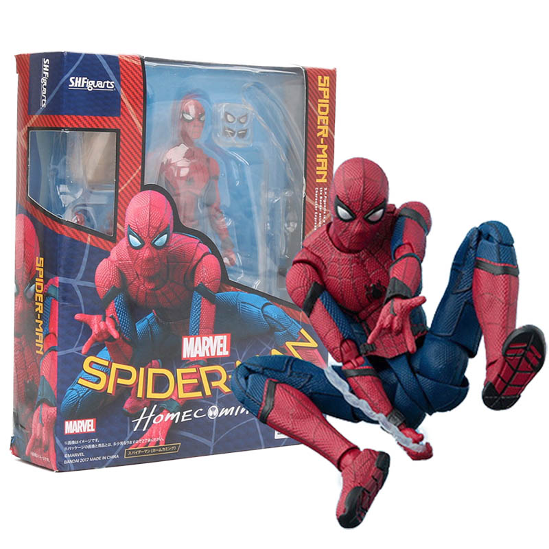 the avengers SHF S.H.Figuarts Spiderman Homecoming spider man hulk PVC Action Figure Collectible Model Toy 15cm