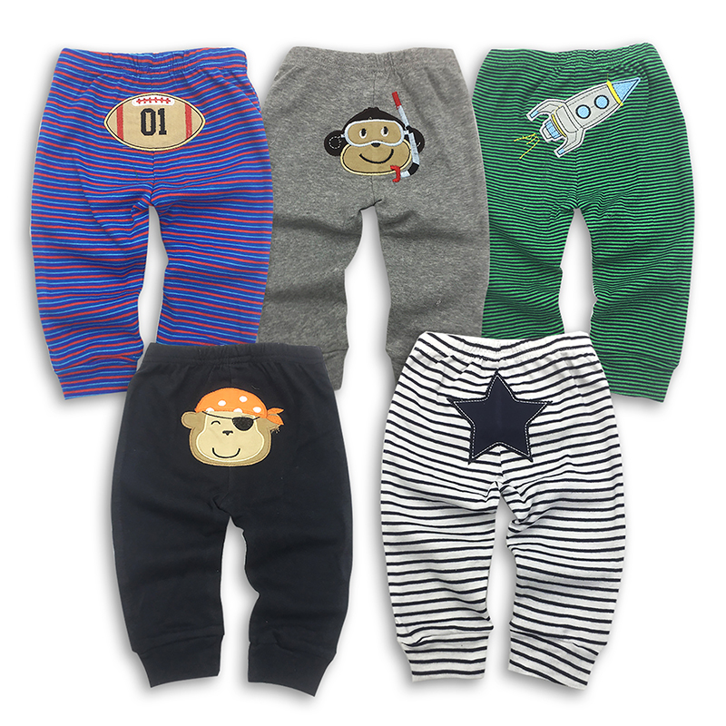 Newborn Baby Pants 5pcs/lot free shoping Children Legging Clothing Babe 100%cotton Cartoon Animal Cute Boy Cotton Trousers Kids