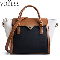 VOLESS Wings Bag Women Leather Handbags Female Fahsion Panelled Crossbody Bags For Women Pu Leather Top