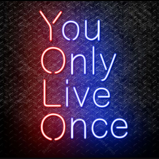 Neon Sign You only Live Once Neon Bulb sign Arcade handcraft Beer Restaurant Home Bedroom Decorate room vintage neon light