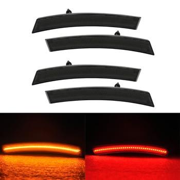 4PCS Smoke Lens Amber Red LED Side Marker Light For MINI Cooper R50 R53 R52 Covertible