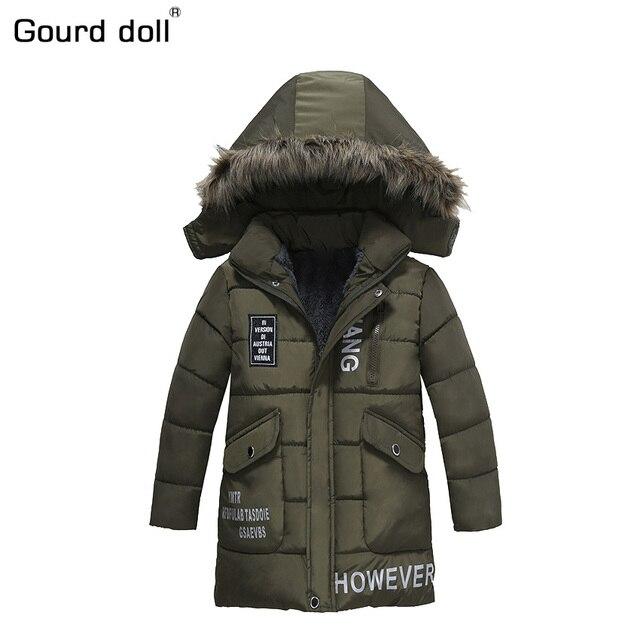 Тыква кукла 2017 на весну и зиму Куртка для мальчиков детская одежда с капюшоном верхняя одежда и пальто для маленьких мальчиков одежда 3 4 5 6 7 8 лет