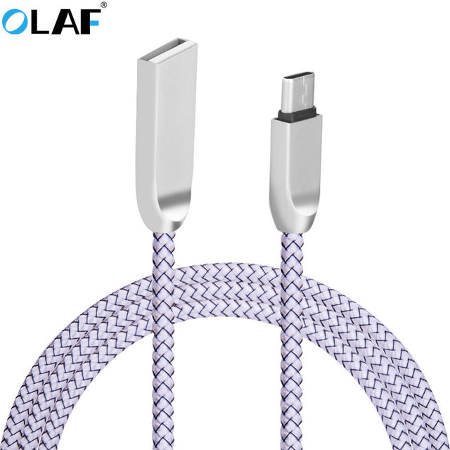 OLAF Nylon USB Type C Cable Data Sync Fast Charger Type-c USB Cable For Samsung S8 Huawei Xiaomi 4C MI5 OnePlus 3 5 Nexus 5X 6P