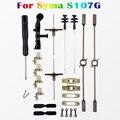 Syma s107g replacment starter kit rc helicóptero peças de reposição conjunto completo caudas de hélice, Barra de equilíbrio, eixo, Conector fivela