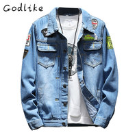 GODLIKE Spring And Autumn New Day Is A Large Size Denim Jacket Men S Fashion Casual