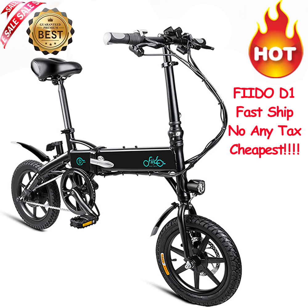 FIIDO D1 Folding Electric Bike 7.8AH/10.4AH Bateria Mini Liga de Alumínio Dobrável Inteligente Bicicleta Elétrica Ciclomotor Bicicleta Plugue DA UE