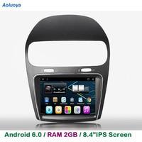 Aoluoya 8.8IPS RAM 2GB+32GB Android 6.0 CAR DVD Player For Fiat Freemont 2012 2013 2014 Radio GPS Navigation multimedia WIFI