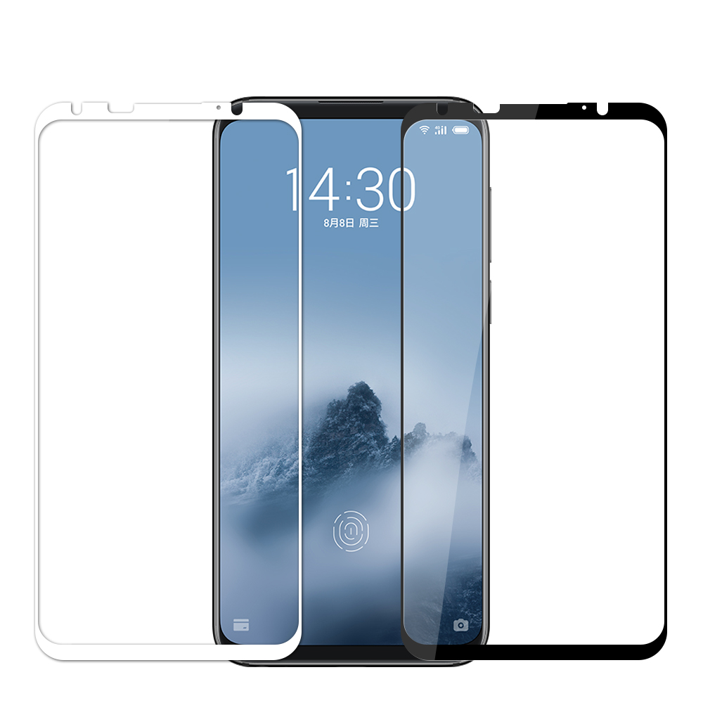 Meizu 16th Glas Gehard MOFi Originele Meizu 16th Plus 16 Plus Screen Protector Film Meizu 16th Plus Gehard Glas Zwart wit
