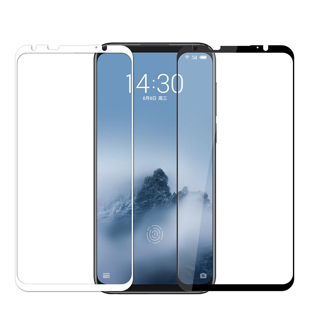 Meizu 16th de vidrio templado MOFi Original Meizu 16th Protector de pantalla completa de la cubierta de película Meizu 16th Plus de vidrio templado negro blanco