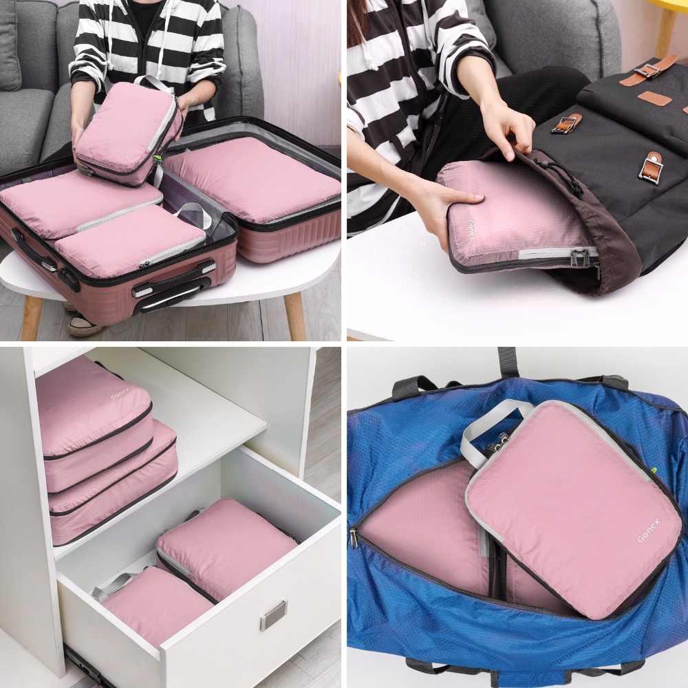 Gonex Sacs /à bagages 6 unit/és Rouge 4 Medium Peut /être utilis/é comme sac /à v/êtements
