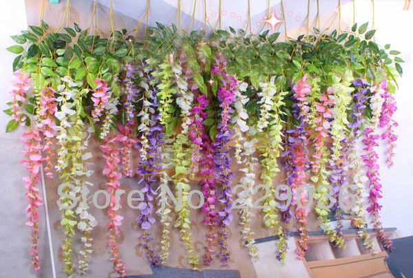 12pcs long artificial silk wisteria flower vine garlands 5 colors 12pcs long artificial silk wisteria flower vine garlands 5 colors bean silk vine decor flower free mightylinksfo