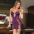 M-5XL  big size women sleep wear plus size sexy lingerie with sock strap sleep nightgown + G string