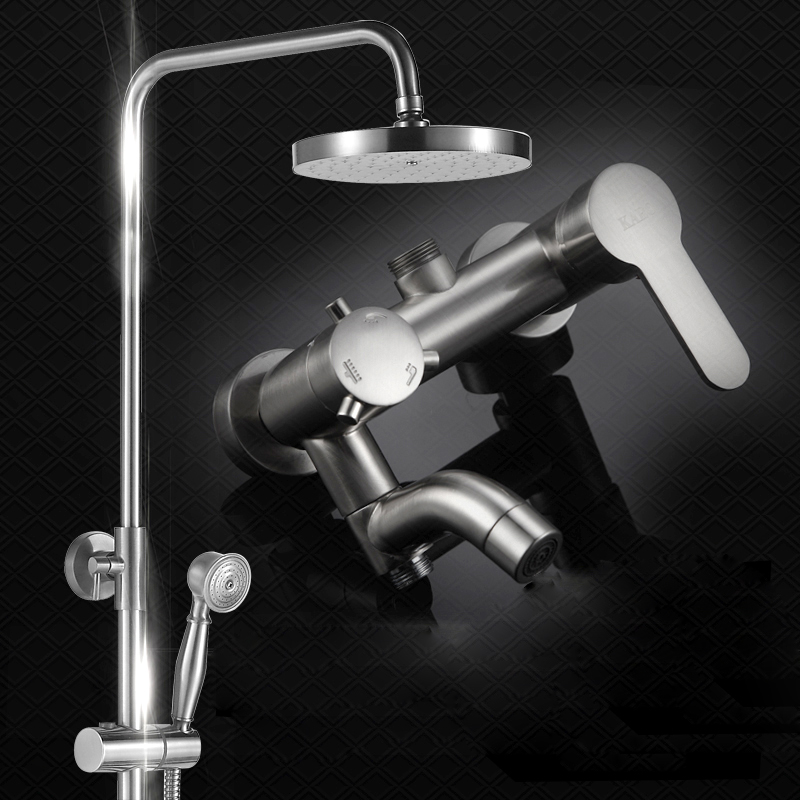 Luxury Oil Rubbed Bronze Rainfall Shower Head Faucet Bathtub Spout Mixer Tap Hand Shower High Pressure Shower Mixer Tap Black стоимость