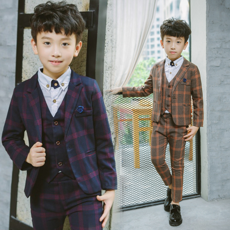 High Quality Wedding Flower Boy Dress Jacket +Pants +Vest +Shirts +Tie 5PCS Sets Child Clothing Set Formal Suit H41High Quality Wedding Flower Boy Dress Jacket +Pants +Vest +Shirts +Tie 5PCS Sets Child Clothing Set Formal Suit H41