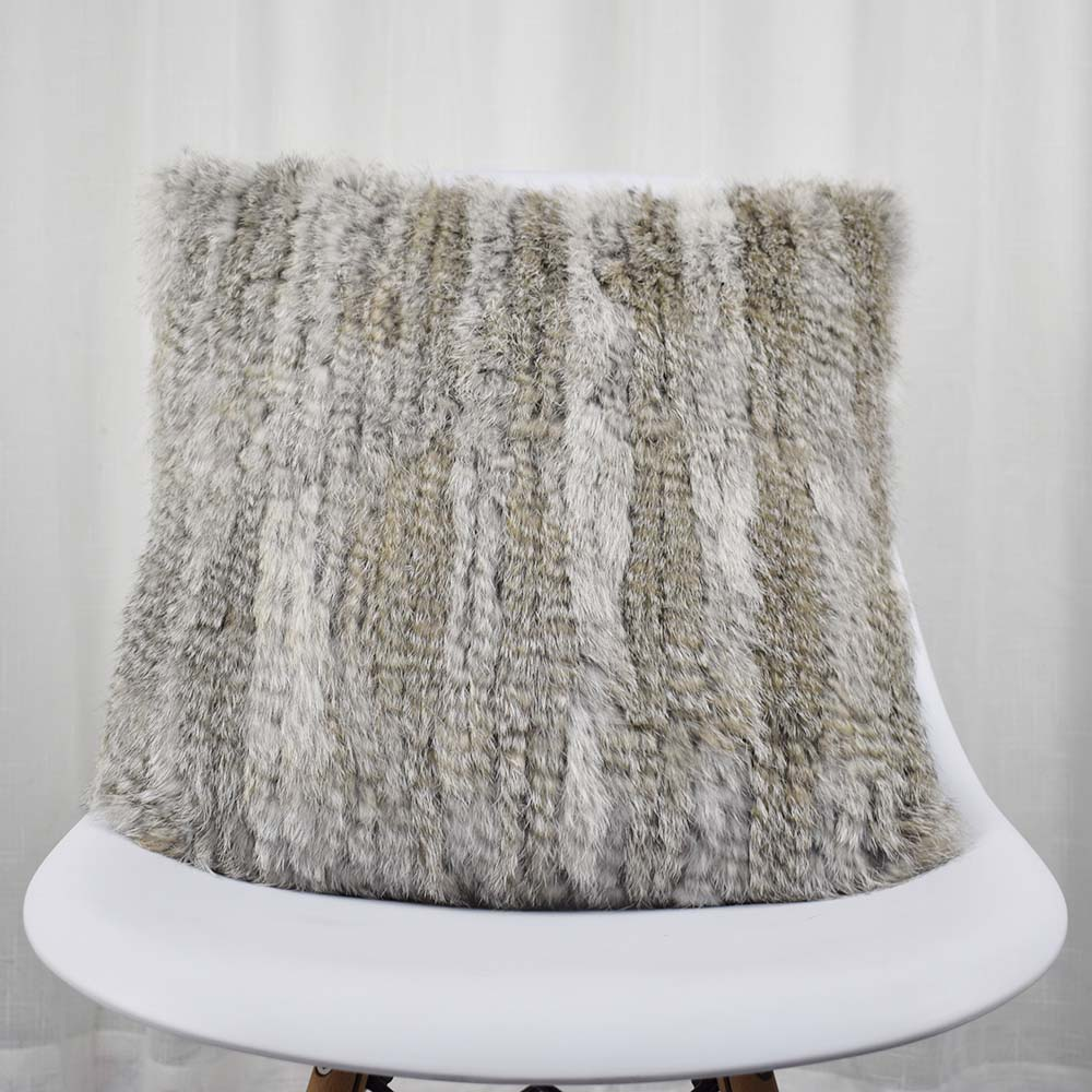 rabbit fur pillow case knitted (5)