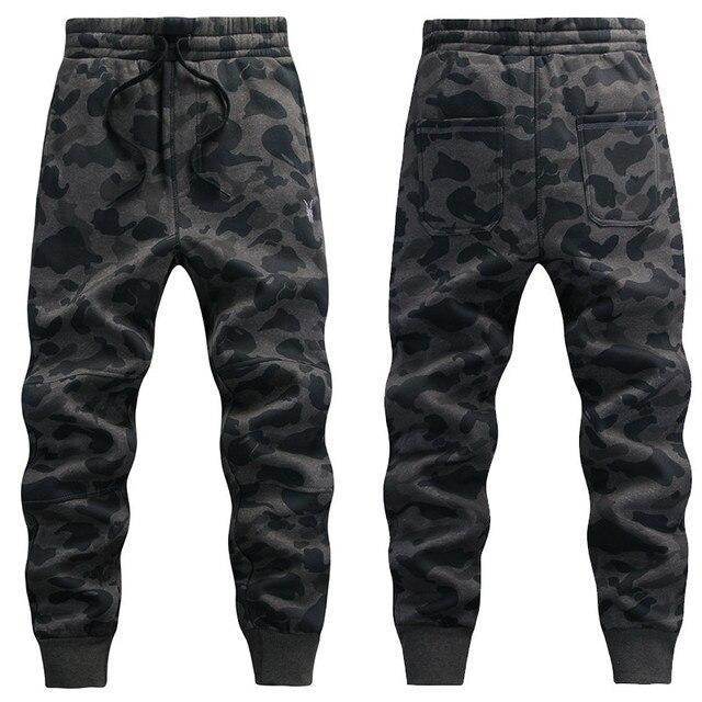 Hombres de la Primavera de Camuflaje Pantalones Deportivos Hip-Hop Harem Gota Entrepierna Pantalones de Camuflaje Del Ejército Casuales Tractical Cintura Elástica Pantalones 021612