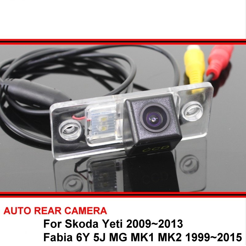 Автомобильная камера заднего вида для Skoda Yeti Fabia 6Y 5J MG MK1 MK2 99 ~ 15, камера заднего вида HD CCD с функцией ночного видения, водонепроницаемая