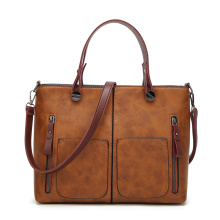 Tinkin vintage PU leather women shoulder fashion total bag larger size women messenger bag
