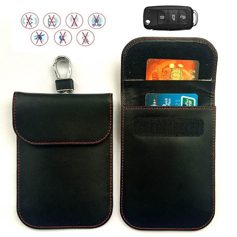 Angemessen Faraday Auto Schlüssel Tasche Fob Signal Blocker Doppel-schicht Id Karte Fall Rfid Abschirmung Pu Schlüssel Paket Für Privatsphäre Schutz Dk0538 Auswahlmaterialien Gepäck & Taschen