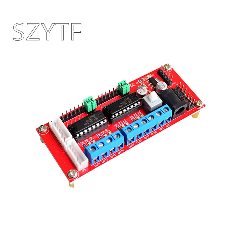4WD car L293D double H bridge 4 way DC motor drive board smart car robot control drive module4WD car L293D double H bridge 4 way DC motor drive board smart car robot control drive module