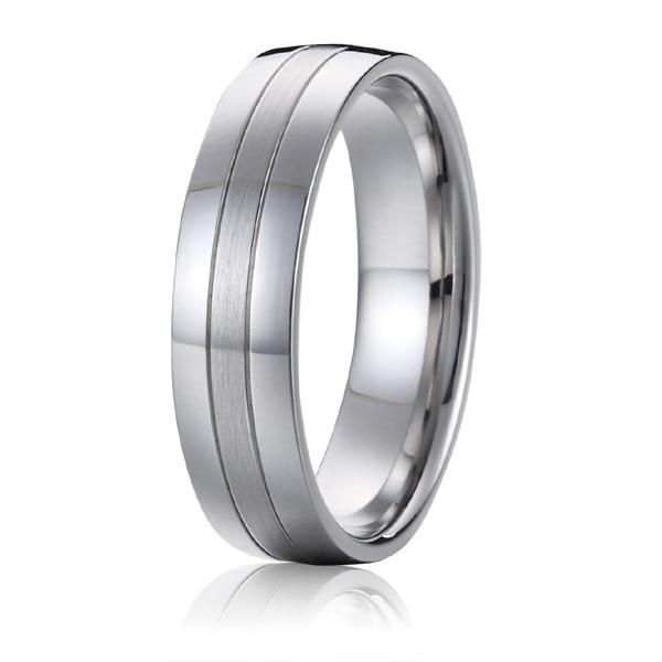 Titanium nakit poročni pas moški obletnica modni prstan belo zlato - Modni nakit - Fotografija 4