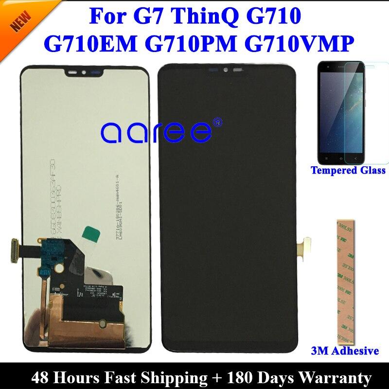 Протестированный ЖК-дисплей для LG G7, ЖК-дисплей G7 ThinQ G710, ЖК-дисплей для LG G7 G710 G710EM, дисплей, сенсорный ЖК-экран, дигитайзер в сборе