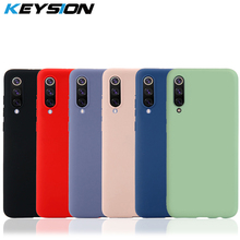 KEYSION Original Thin Liquid Silicone Case for Xiaomi Mi 9 8 A2 MIX 3 2S Gel Rubber Phone Cover Protective Redmi Note 7