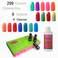 7ml Clou Beaute 299 Colors (SONP Any 8 Colors + Nail Cleanser Plus*1) Nail Gel UV Led Nail Lamp Color Soak Off Gel Polish