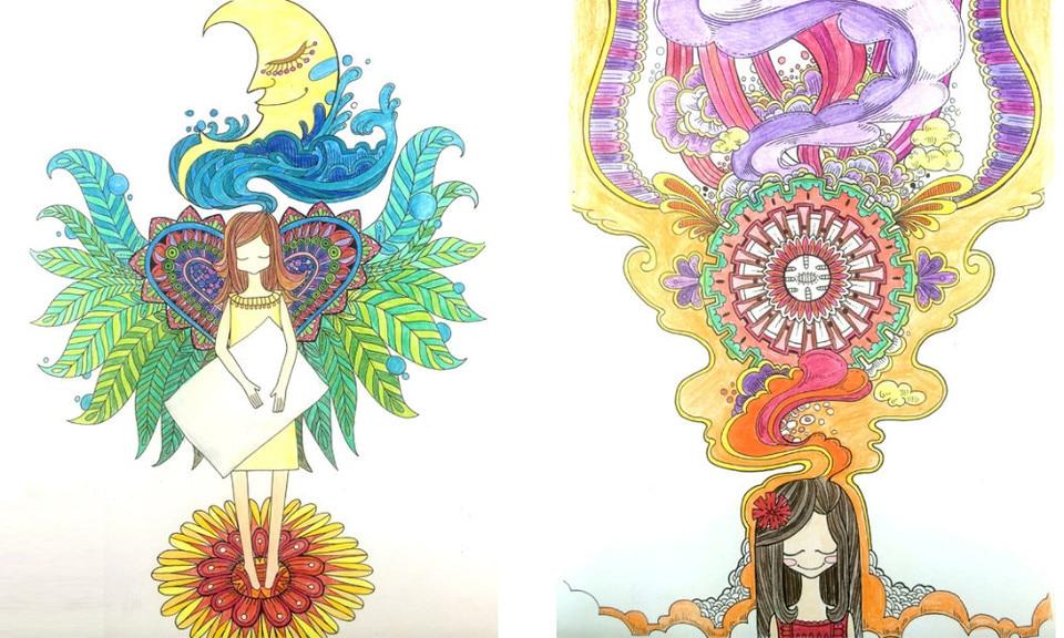 Livres De Coloriage Magique Dreamland Pour Adultes Enfants Soulager Le Stress Graffiti Peinture Dessin Antistress Coloriage Livre 96 Pages Aliexpress