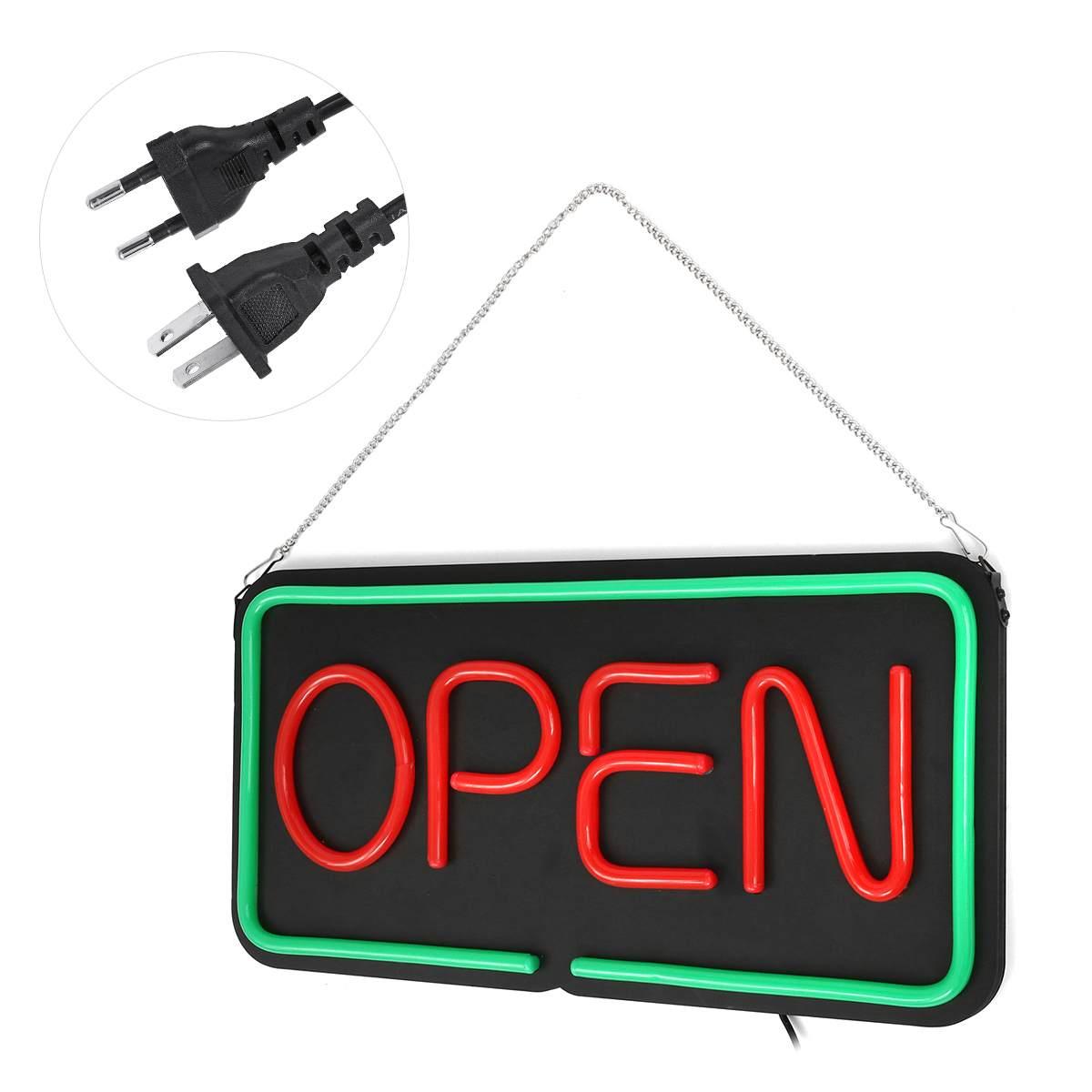 AC 100-240 V ouvert LED néon signe lumière suspendus Bar parti magasin visuel œuvre lampe décoration éclairage Commercial néon lumière conseil
