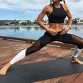 HOT Sale Mesh Yoga Pants Women High Elastic Grey Sport Leggings High Waist Running Tights Quick Dry Fitness Legging