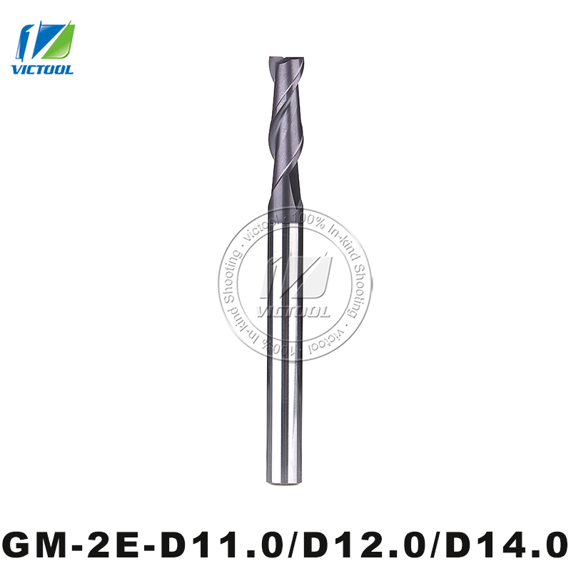 GM-2E-D11.0/D12.0/D14.0  Cemented Carbide CNC Milling 2 Flute Flattened End Mills With Straight Shank Machining Stainless Steel
