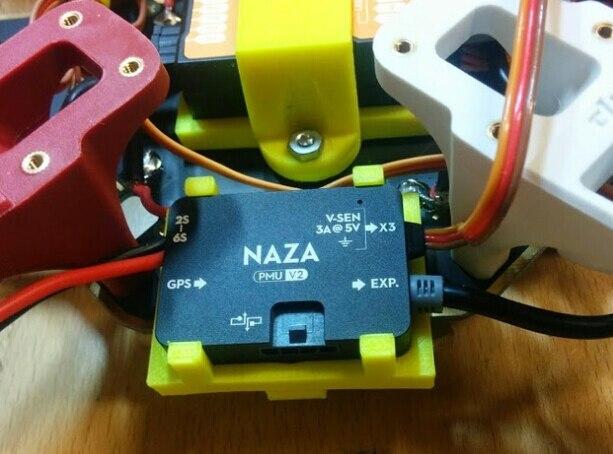 NAZA M V2 Flight Control & PMU Holder Mount for F450 F550 Quadcopter 3D-printed SKU:11732