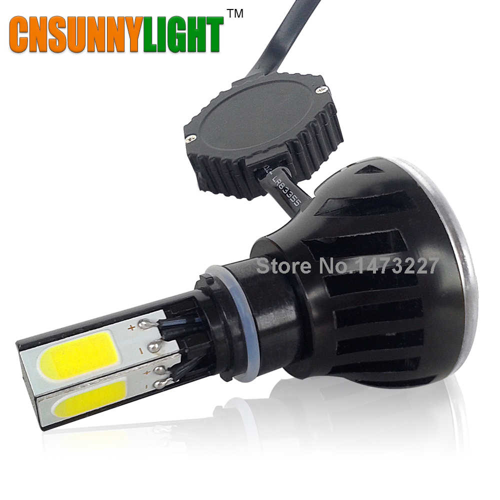 CNSUNNYLIGHT LED Motorcycle Headlight Bulb H4 H7 H6 p43t BA20d p15d 12V 2400LM High Brightness Replace Motor Head Light