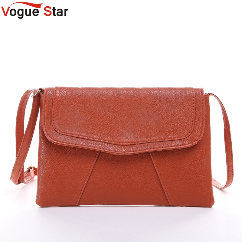 1a0602ae9b52 Vogue Star New Fashion Women Envelope Bag PU Leather Messenger bag Handbag  Shoulder Crossbody Bag Purses