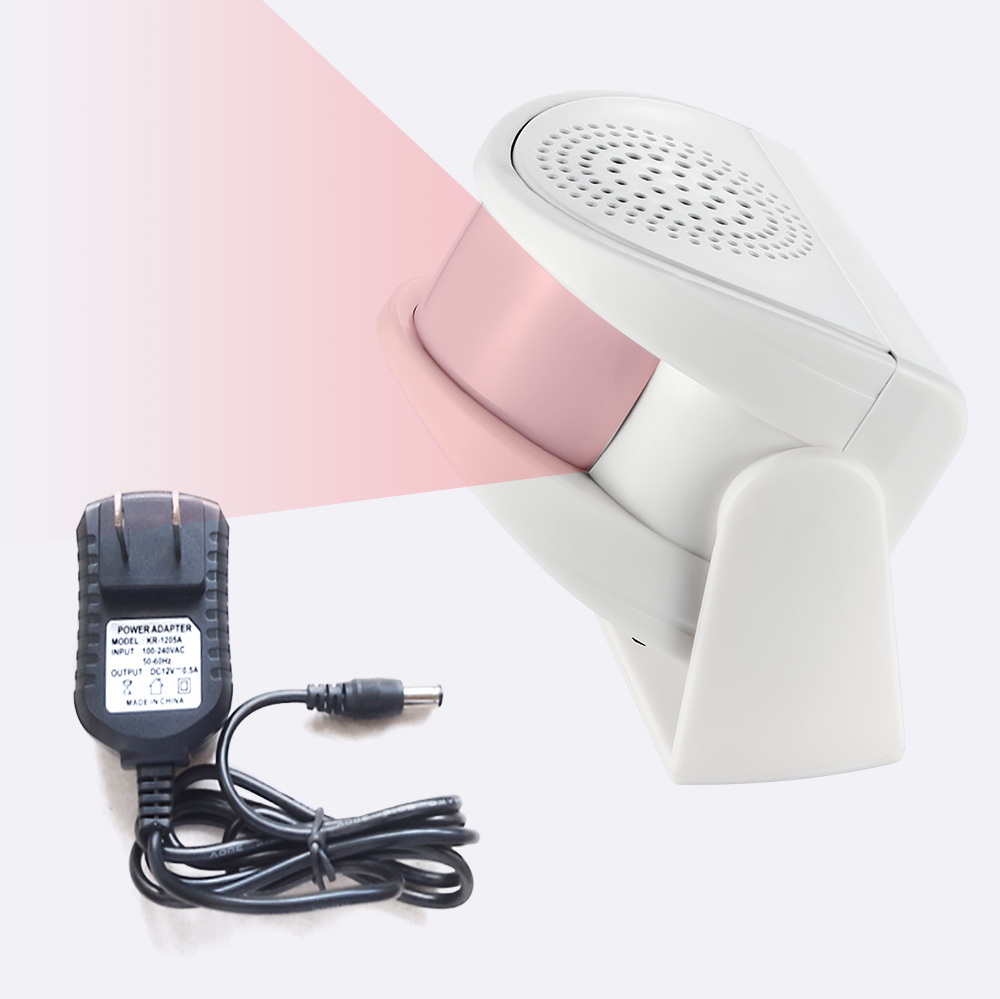 Wireless Welcome Chime Alarm Door Bell PIR Motion Sensor For Shop Entry Security Protection Alarm Doorbell With Power Supply
